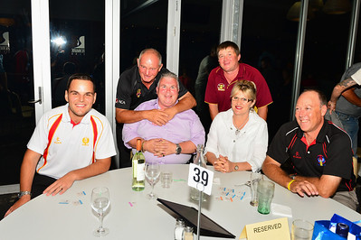Sponsors Table. (l to r) Scott Houston (SACA), Peter Sleep (Australian Test Cricketer and Guest Speaker), Phil and Renske Reddy (Overland Corner Hotel), Dion Pfitzner (SACA), Andrew Calwell (SACA),