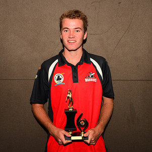 "RTCA U 17  Bowling Aggregate and Barmera Hotel  ""A"" Grade Fielding Trophy and ""A"" Grade Junior  Cricketer of the Year,  Tristan Geehman (Waikerie)"