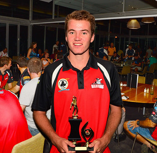 "RTCA U 17  Bowling Aggregate and Barmera Hotel  ""A"" Grade Fielding Trophy and Riverland Premier Sports Trophy ""A"" Grade Junior  Cricketer of the Year,  Tristan Geehman (Waikerie)"