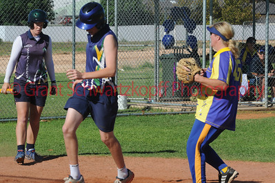Tyson Renshaw (Loxton) crosses home plate to score another run