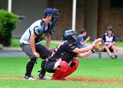 Sarah Schiller (Waikerie) catching. Jason Culbertson umpire
