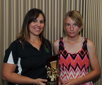 "2011/2012 ""B"" grade BEST AND FAIREST AWARD Runner up Tie Kylie Loxton (Loxton) Chloe Passmore (Cobby)"
