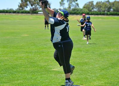 Vicki Watkins (Lox Green) on 1st base