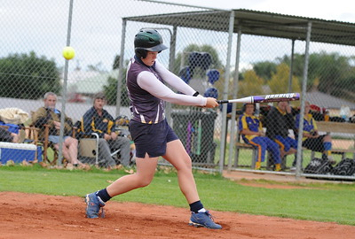 Haylee Symens (Loxton) hits out