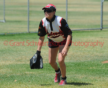 Kristen Pick (Waikerie) ready for the pitch