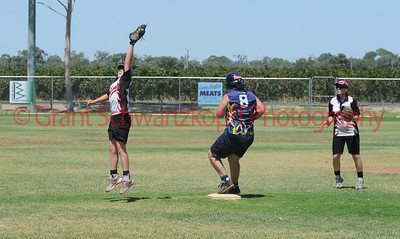 Nick Hocking (Waikerie) jumps to take a great catch