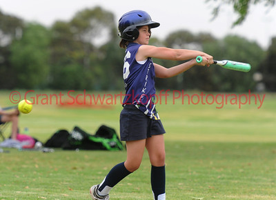 """""""C"""" grade Loxton Blue's Cody Hammerstein hits out against Loxton Green"""