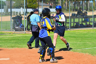 Mikayla Hammerstein (Loxton A) crosses home plate