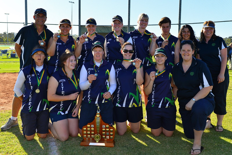 "RIVERLAND SOFTBALL 2014/2015 ""A"" GRADE PREMIERSHIP TEAM, LOXTON"