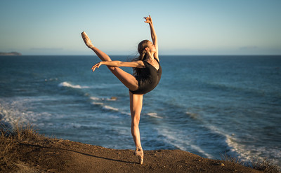 Fine Art Ballet Photography: Nikon D810 Elliot McGucken Fine Art Ballerina Dancer Dancing Ballet Seascape Landscape Photography!