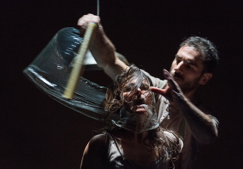 '#JeSuis' Dance performed by Aakash Odedra Dance Company at the Lilian Baylis Theatre, London, UK