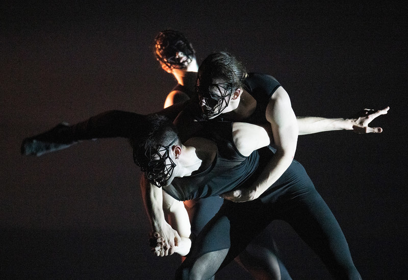 Overflow. Dance performed by Alexander Whitley Dance Company at Sadler's Wells Theatre, London, UK