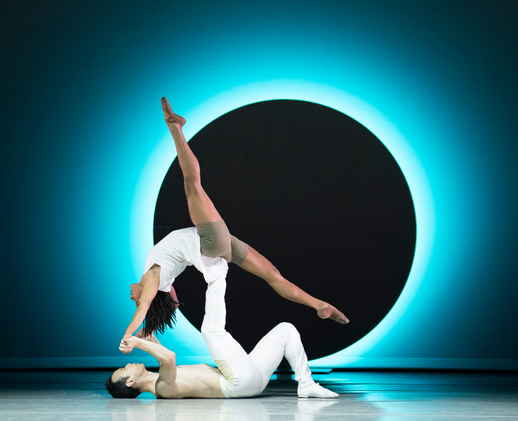 'EN' Performed by Alvin Ailey Dance Theatre at Sadler's Wells Theatre, London, UK