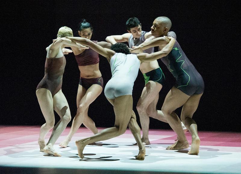 'Atomos' Dance choreographed by Wayne McGregor performed by Randon Dance at Sadler's Wells Theatre
