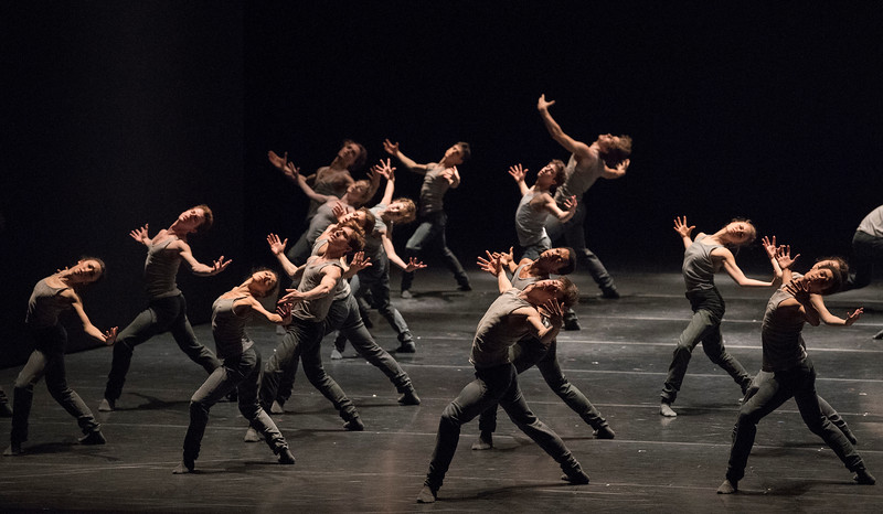 'Flight Pattern' Dance choreographed by Crystal Pite performed by the Royal Ballet at the Royal Opera House, London, UK