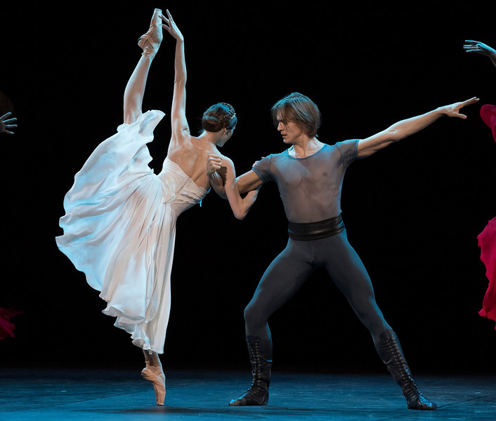 'Francesca da Rimini' Ballet performed as part of 'Amore'. Danced by members of the Bolshoi Ballet at the London Coliseum, UK