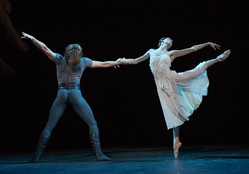 'Francesca da Rimini' Ballet performed as part of 'Amore'. Danced by members of the Bolshoi Ballet at the London Coliseum, UK