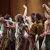 'Goat' Dance choreographed by Ben Duke, performed by Rambert Dance at Sadler's Wells Theatre, London, UK