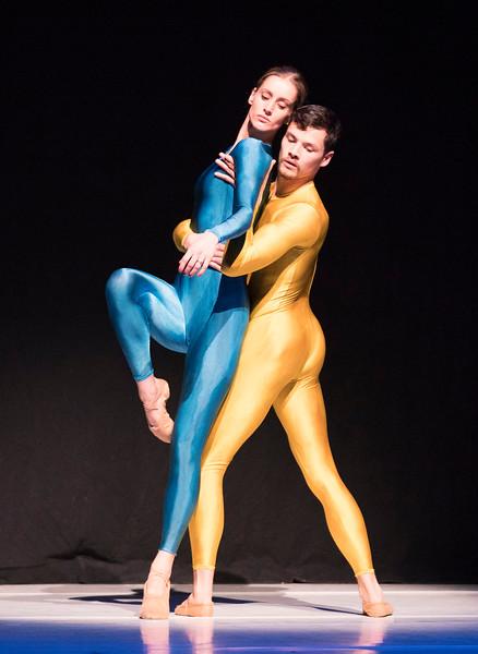 'Introdans' Dance Company performing at the Linbury Theatre, Royal Opera House, London, UK