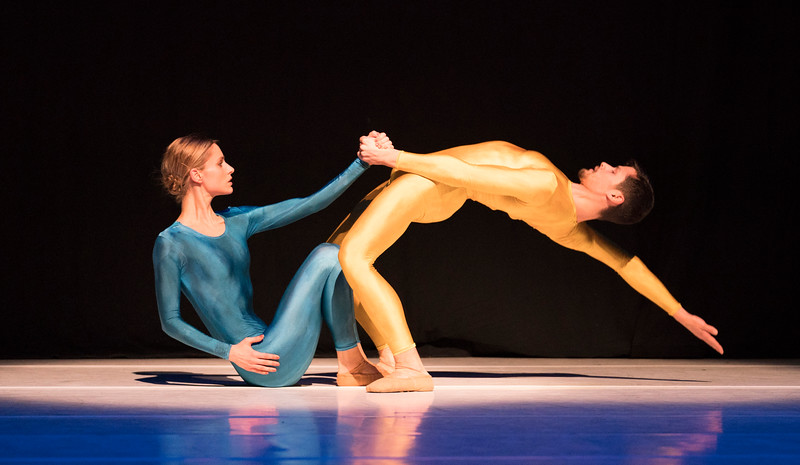 'Introdans' Dance Company performing at the Linbury Theatre, Royal Opera House, London, UK