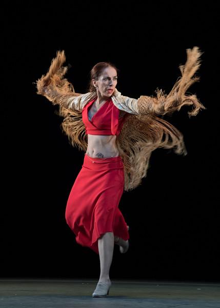 'Dju-Dju' Flamenco Dancing performed by Isabel Bayon Compania at Sadler's Wells Theatre, London, UK