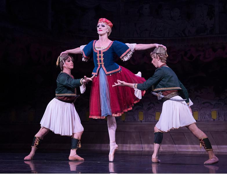 'Les Ballets Trockadero de Monte Carlo' performing at the Peacock Theatre, London, UK