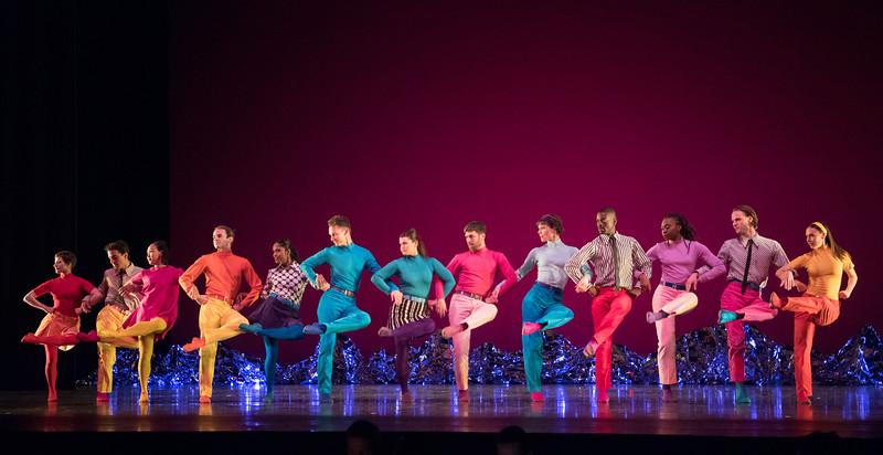 'Pepperland' Dance choreographed by Mark Morris, performed by Mark Morris Dance Company at Sadler's Wells Theatre, London, UK