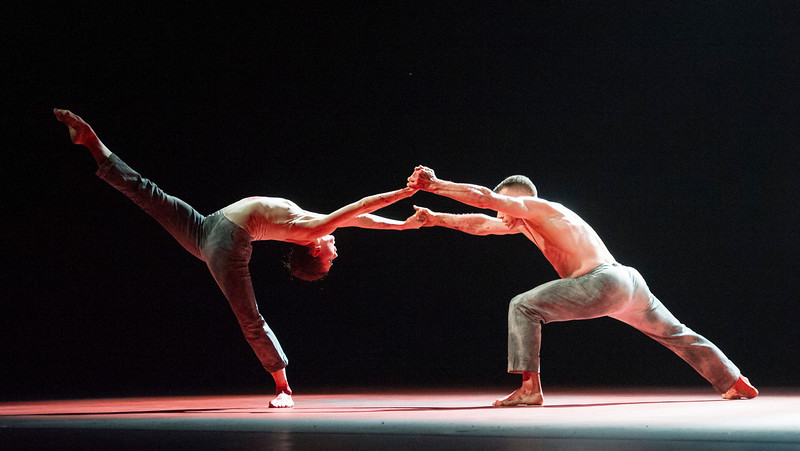 Natalia Osipova performes dance 'Qutb' choreographed by Sid Larbi Cherkaoui at Sadler's Wells Theatre, London, UK