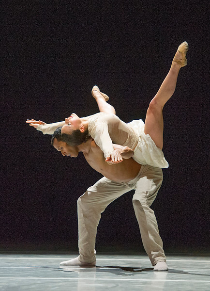 'Schubert' choreographed by Sol Leon and Paul Lightfoot performed by Nederlands Dans Theater 2 at Sadler's Wells Theatre, London, UK