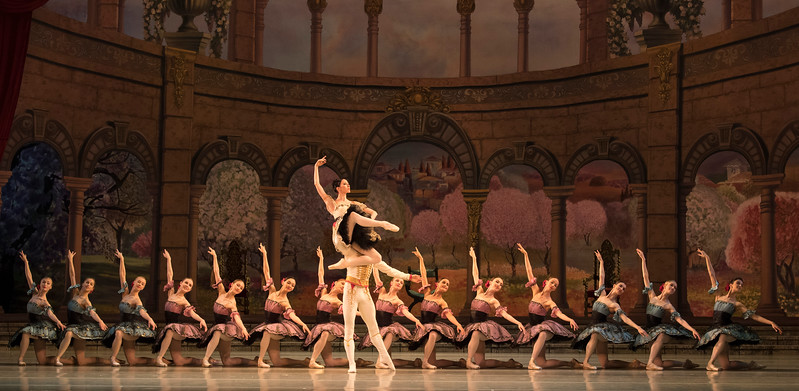'Paquita' Ballet performed by Mariinsky Ballet as pert of 'Contrasts' at the Royal Opera House, London, UK