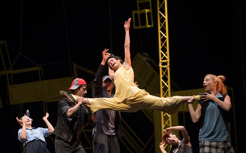 'Pinocchio' Dance performed by Jasmin Vardimon Dance Company at Sadler's Wells Theatre, London, UK