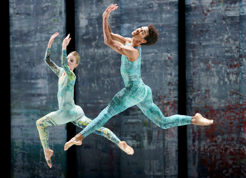 'Rambert Event by Merce Cunningham' Dance performed by Rambert Dance at Sadler's Wells Theatre, London, UK