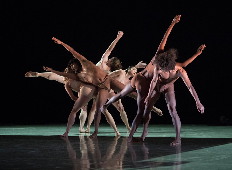 'Hydrargyrum' Dance choreographed by Patricia Okenwa performed by Rambert Dance Company at Sadler's Wells Theatre, London, UK
