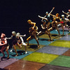 'A Linha Curva' Dance choreographed by Itzik Galili, performed by Rambert Dance Company at Sadler's Wells Theatre
