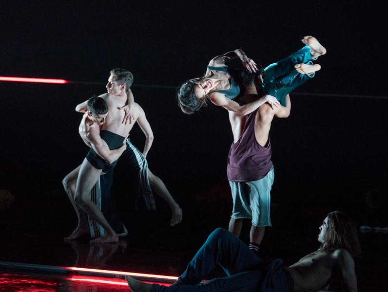 'Rouge' Dance performed by Rambert Dance Company at Sadler's Wells, London, UK