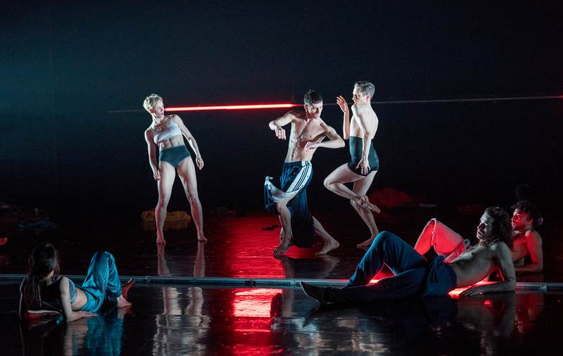 'Rouge' Dance performed by Rambert Dance Company at Sadler's Wells, London, UK