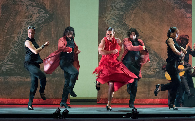 'Sombras' performed by Ballet Flamenco Sara Baras at Sadler's Wells Theatre, London, UK