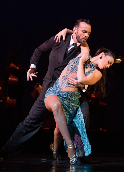 'Tango Fire' Tango choreographed by German Cornejo performed at the Peacock Theatre, London, UK