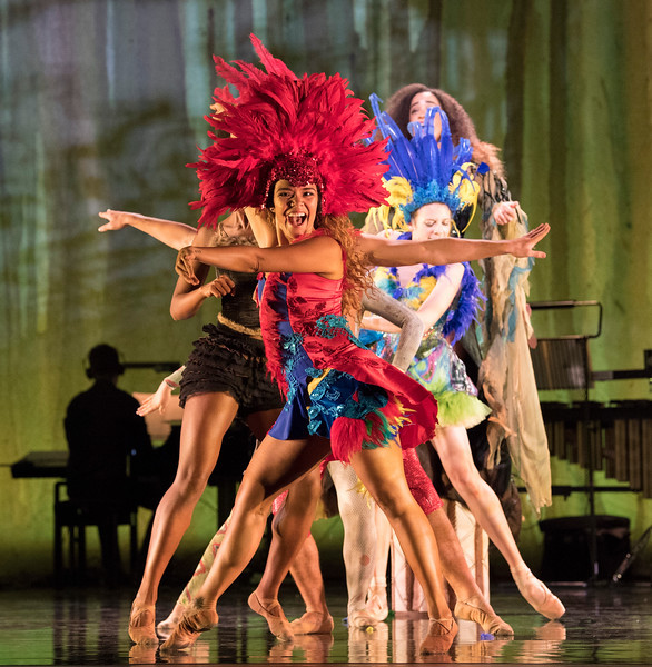 'Voices of the Amazon' Dance performed at Sadler's Wells Theatre, London, UK