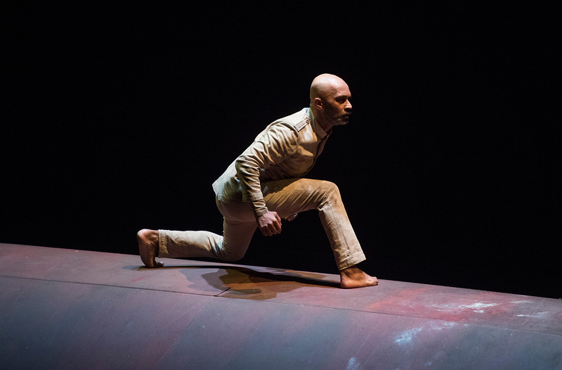 'Xenos' Dance performed by Akram Khan at Sadler's Wells Theatre, London, UK