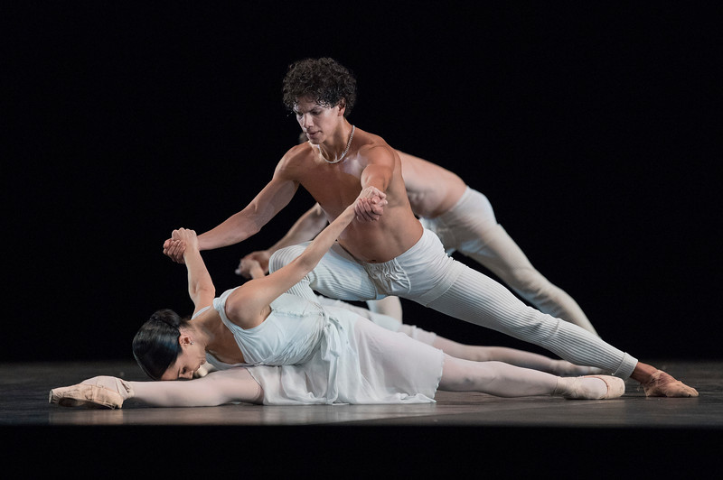 'Adagio Hammerklavier' Dance by Hans van Manen performed by English National Ballet at Sadler's Wells Theatre, London, UK