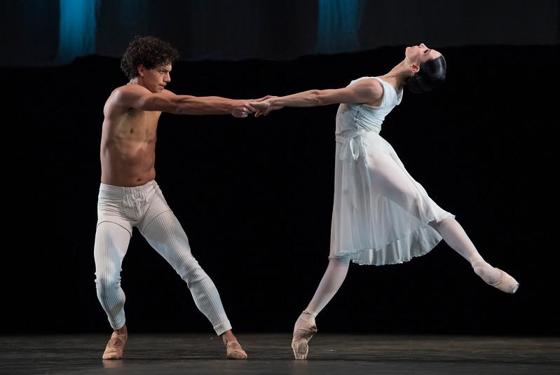 'Adagio Hammerklavier' Dance by Hans van Manen performed by English National Ballet at Sadler's Wells Theatre, London, UK