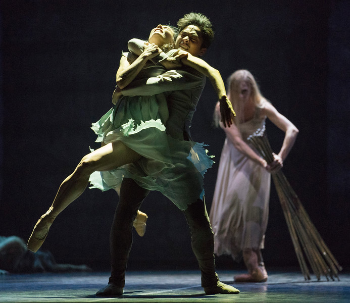 'Giselle' Choreographed by Akram Khan performed by English National Ballet at Sadler's Wells Theatre, London, UK