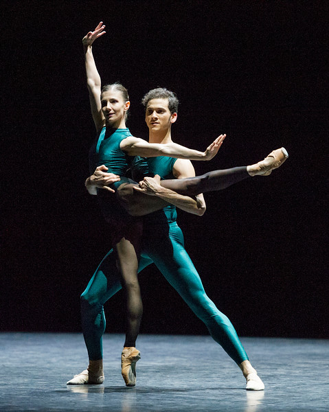 'In the Middle, Somewhat Elevated' Choreographed by William Forsythe performed by English National Ballet at Sadler's Wells Theatre