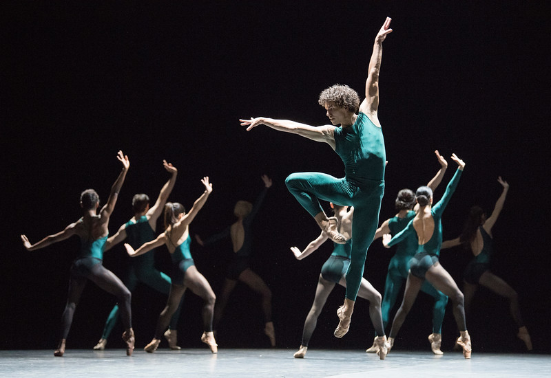'In the Middle, Somewhat Elevated' Dance by William Forsythe performed by English National Ballet at Sadler's Wells Theatre, London, UK