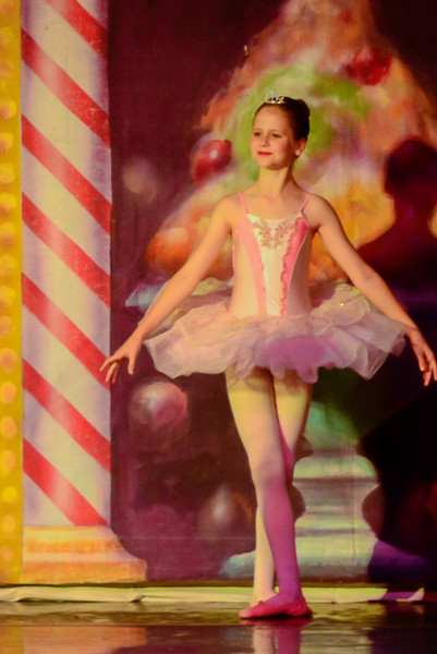 Elise Rhen as Mini Sugar Plum in the Land of the Sweets.