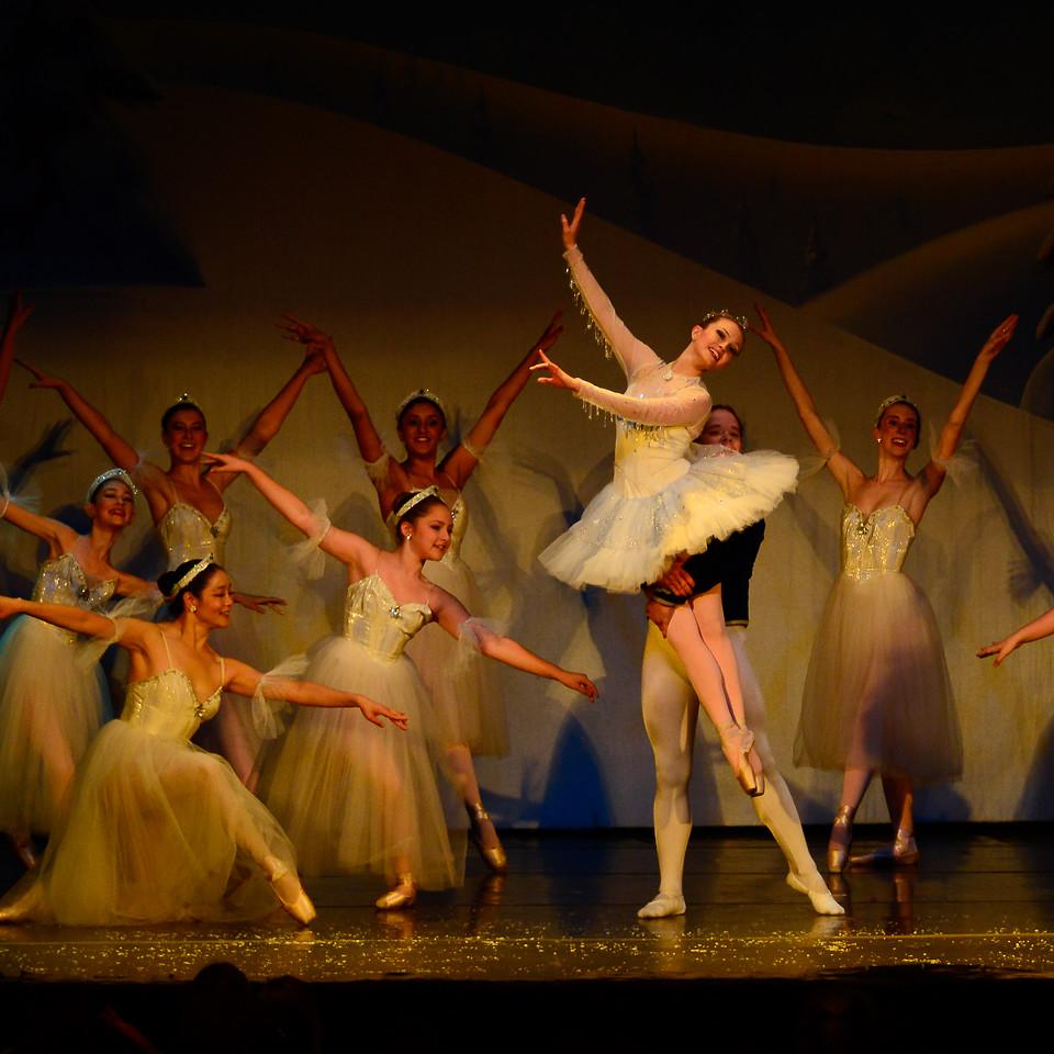 Ballet America's Snow scene from the Nutcracker.