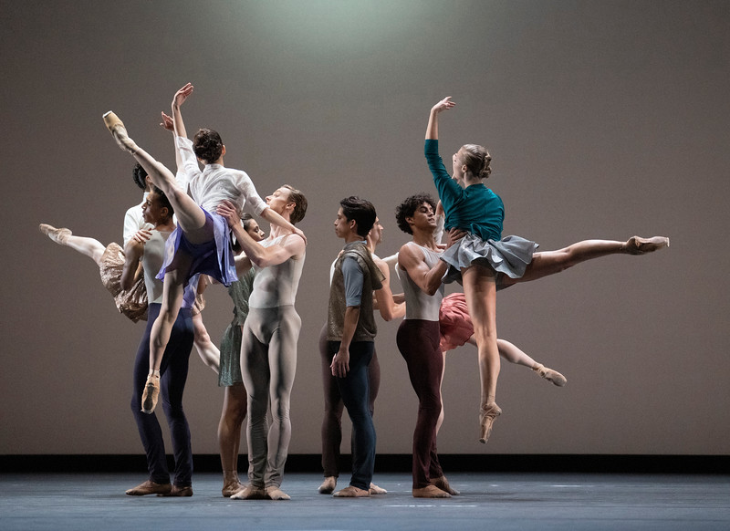 Anemoi. World Premiere of Ballet Choreographed by Valentino Zucchetti performed by the Royal Ballet at the Royal Opera House, London, UK