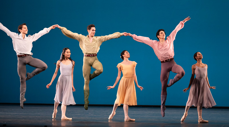'Dances at a Gathering' Ballet performed by the Royal Ballet at the Royal Opera House, London, UK