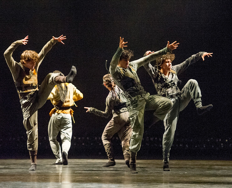 'Untouchable' Dance choreographed by Hofesh Shechter performed by the Royal Ballet at the Royal Opera House, London UK